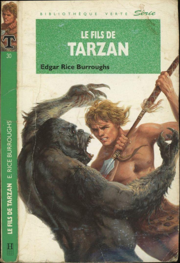 Marcel Laverdet - Le Fils de Tarzan, Edgar Rice Burroughs - Hachette Bibliothèque Verte 1993