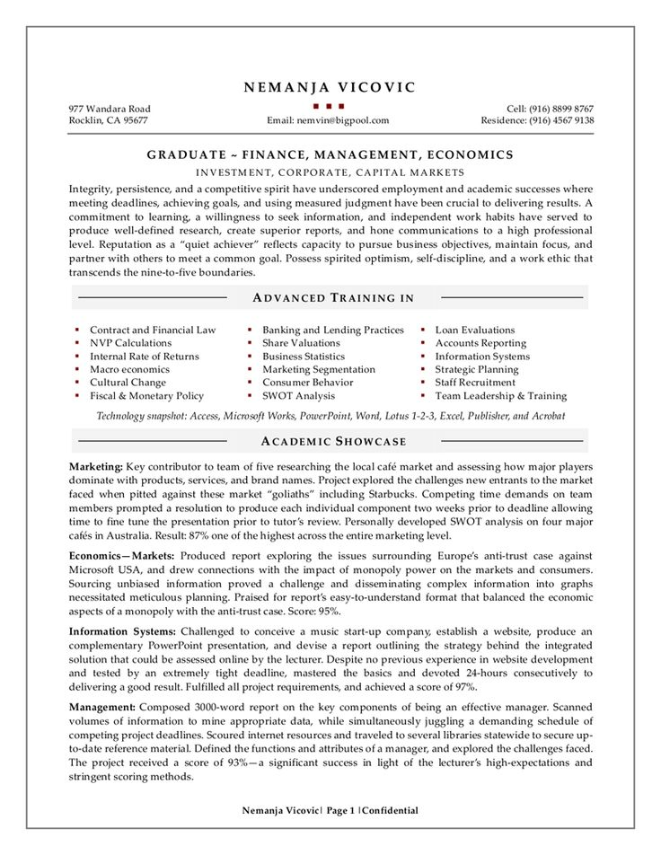 104 best The Best Resume Format images on Pinterest Do you need - resume examples for college graduates