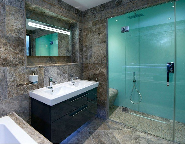 Glacier Colored High Gloss Acrylic Shower Wall Panels In Bathroom Remodel With A Ceramic Floor In 2020 Bathroom Wall Panels Acrylic Shower Walls Bathroom Shower Panels