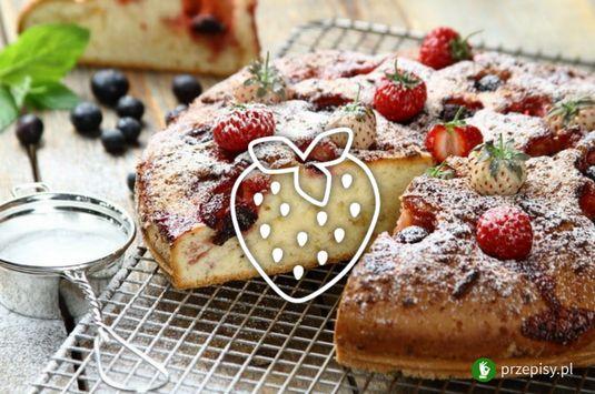 Ciasto jogurtowe z truskawkami #cake #summer #strawberry