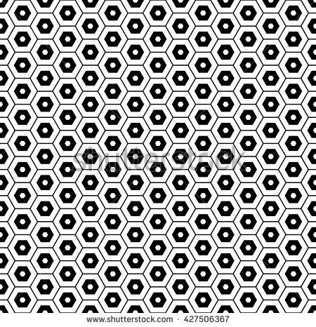 hexagon vector pattern background with monochrome.modern stylish texture.geometric pattern