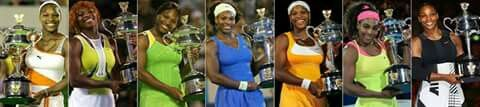 7x Australian Open champ, Serena Williams!   2017✓ 2015✓ 2010✓ 2009✓ 2007✓ 2005✓ 2003✓