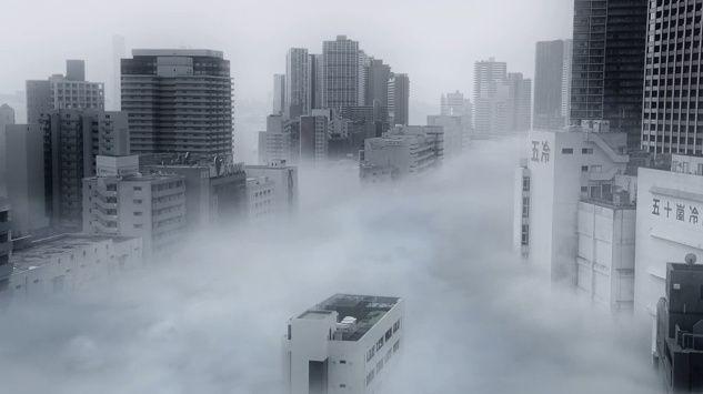 Tokyo in dense fog. Their video is great too.