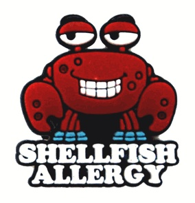 """Crabby"" Shellfish Allergy AllerMates Charm for Multi-Allergy Wristband"
