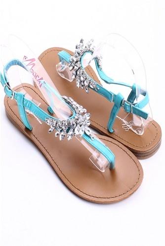 aqua bling sandals | My Style / Aqua Rhinestone sandals