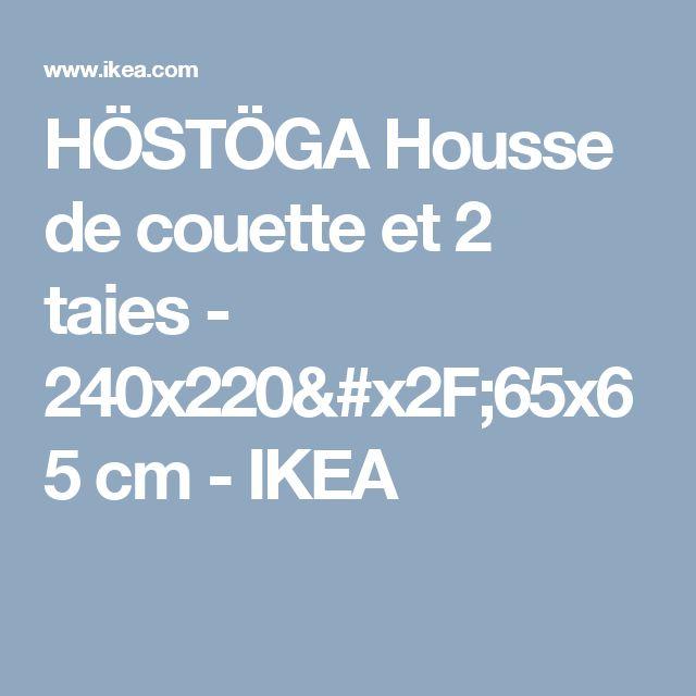 HÖSTÖGA Housse de couette et 2 taies - 240x220/65x65 cm  - IKEA