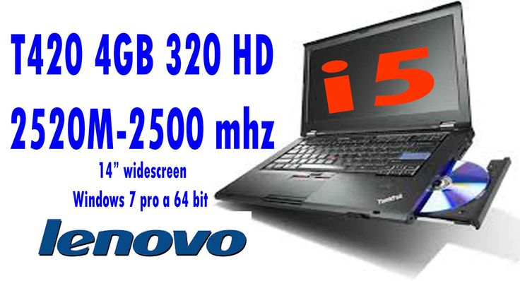 Lenovo Thinkpad T420, I5 2520 M 2,5 Ghz 4GB 320 HD CON WINDOWS 7 PRO A 64 BIT GARANZIA 180 GIORNI