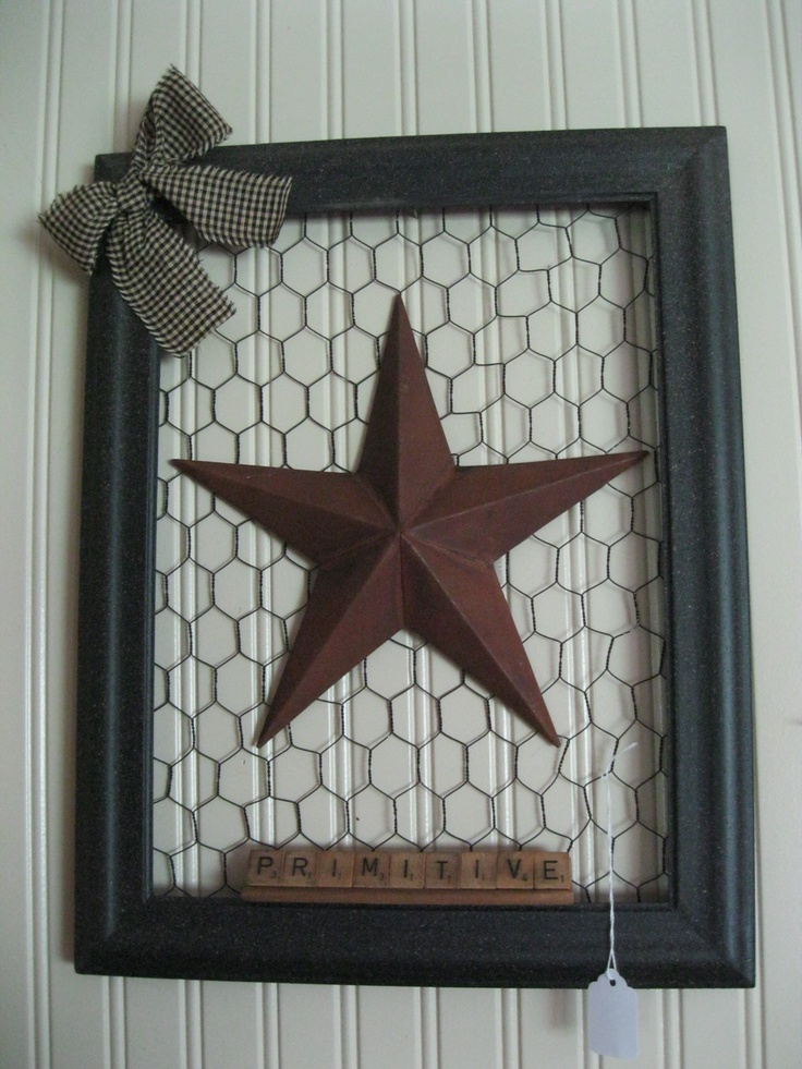 Pimitive Picture Frame.. Easy and adorable!