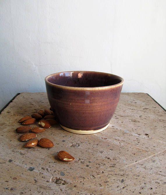 Purple cafe au lait bowl/ cafe bowl/ purple ceramic cup/