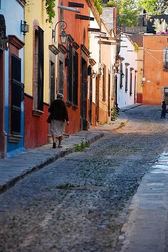 Colonial street in San Miguel de Allende