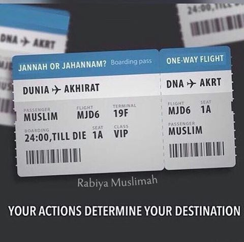 "383 Likes, 13 Comments - Rabiya muslimah (@ukhti_of_deen) on Instagram: ""Book your One Way ticket now before it too late...Turn to Allah before you Return to…"""