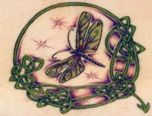celtic dragonfly tattoo design for women | Tattoo ideas | Pinterest