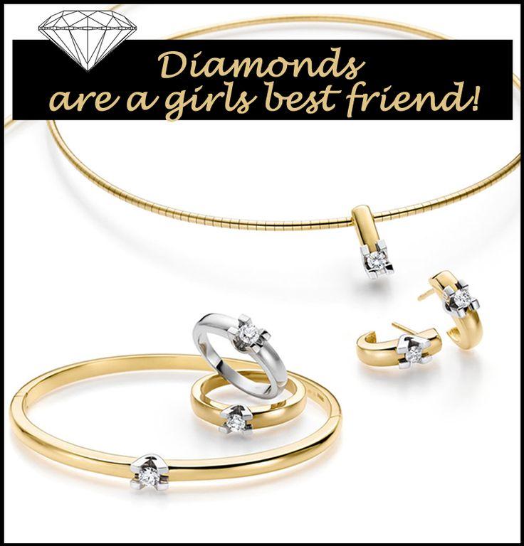 Diamanten sieraden Diamonds are a girls best friend! Gouden en diamanten sieraden zij voor veel vrouwen nog steeds een echt pronkstuk. Dit is ook niet zo raar want gouden en diamanten sieraden houden hun typerende glans jarenlang. Bent u op zoek naar mooie gouden of diamanten sieraden of een combinatie hiervan?