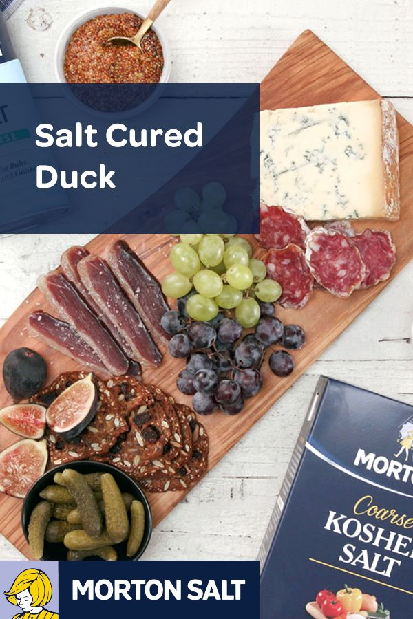 Salt Cured Duck recipe // Succulent duck cured in salt is a delicious addition to a holiday meat and cheese board.