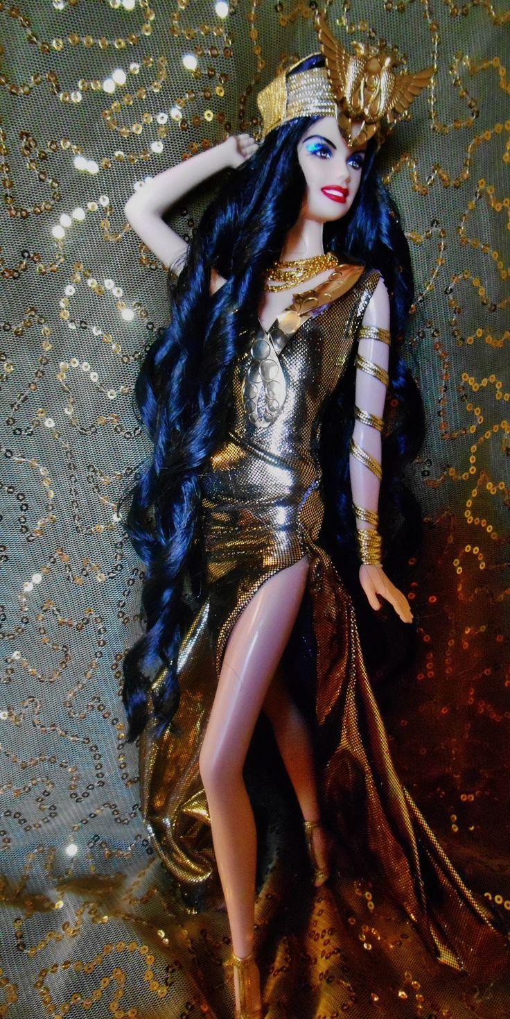 SOLD Egyptian Snake Goddess Wadjet ooak barbie doll dakotas.song