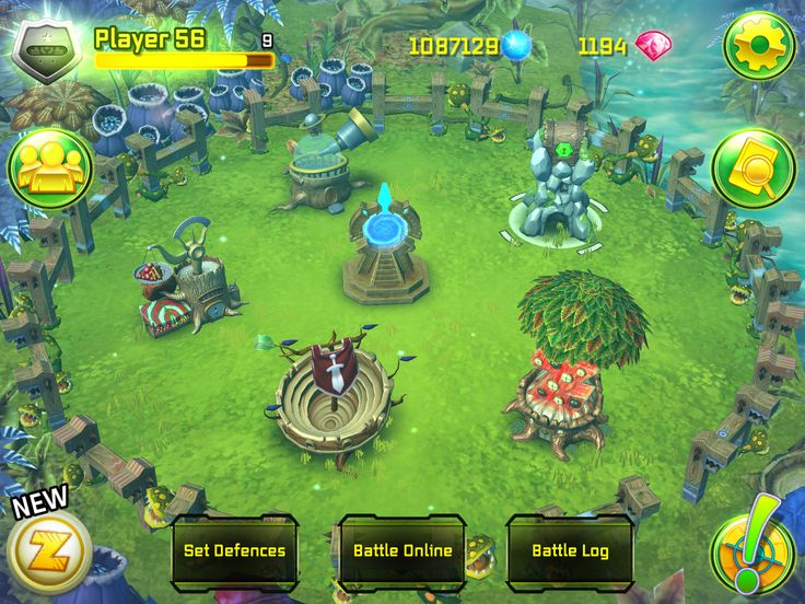 1. Fight online against other players! Go to your defence tower, tap on it, then tap on the 'Battle Online' button.