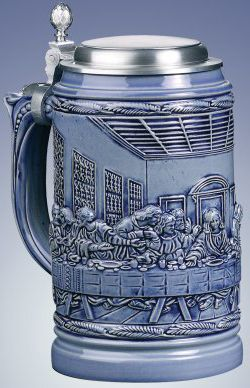 LE German Beer Stein Lord's Supper