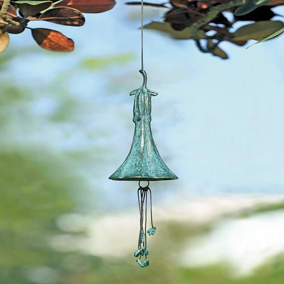 Trumpet Wind Chime French Country Cottage Barnyard Shabby Etsy Wind Chimes French Cottage Garden French Country Cottage