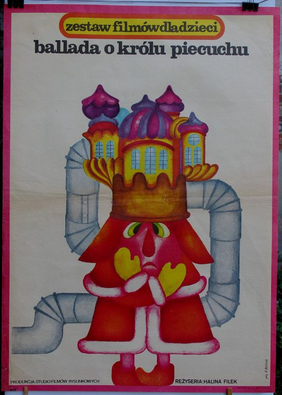An animated Polish film for children. Polish poster by Hanna Bodnar (1977)