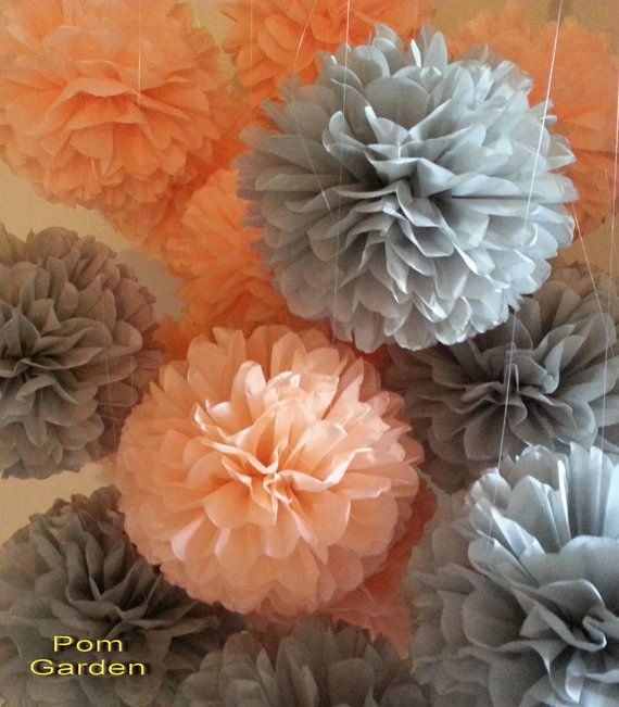 Check out this item in my Etsy shop https://www.etsy.com/listing/205725997/on-saletissue-paper-pom-poms-set-of-12