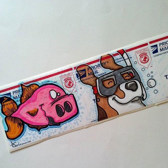 graffiti sticker collab