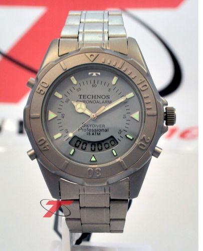 [EXTRAMOB] Relógio TECHNOS Skydiver [Titânio] T20564/1C R$ 218,40 em 1x ou R$229,90 em 3x