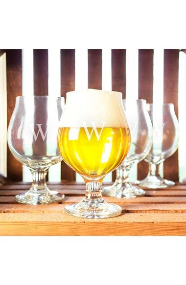 CATHY'S+CONCEPTS+Personalized+Belgian+Beer+Glasses+(Set+of+4)+available+at+#Nordstrom