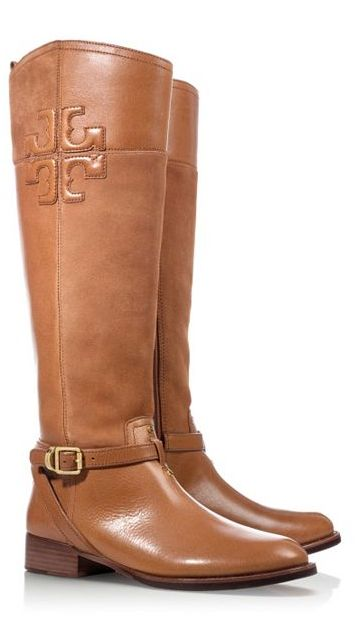 Classic riding boots by Tory Burch... So wanna get these!!