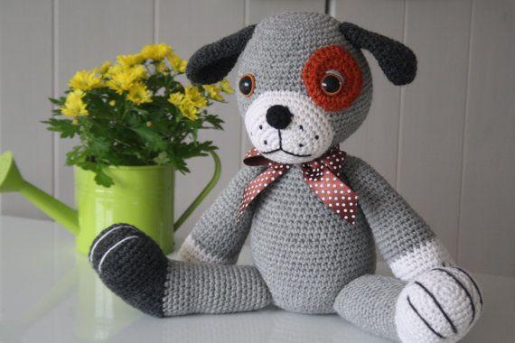 Dog Muzzle Knitting Pattern : PATTERN Big puppy crochet pattern amigurumi pattern by lilleliis Amigurumis...
