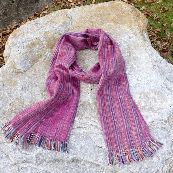 This super soft alpaca scarf is bright and cheerful!  Warm up your winter:-)