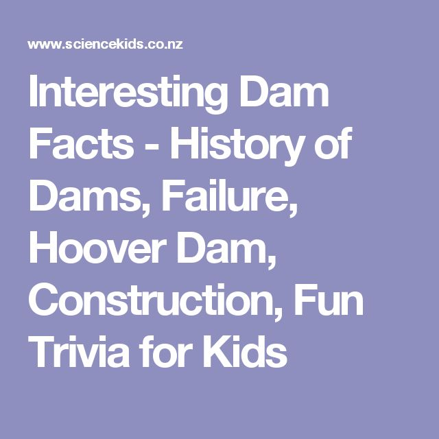 Interesting Dam Facts - History of Dams, Failure, Hoover Dam, Construction, Fun Trivia for Kids