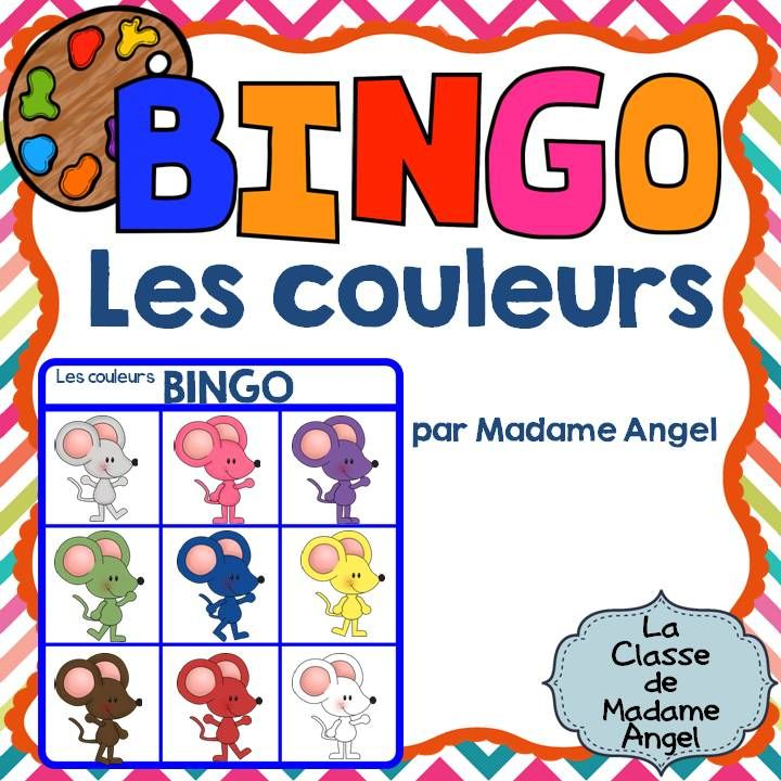 $  Les couleurs!  French colour themed BINGO game!