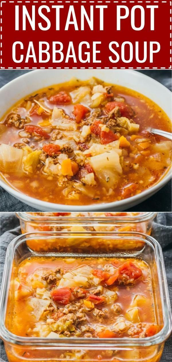 This Hearty Instant Pot Cabbage Soup Recipe With Ground Beef Is Great For Anyone On A Keto Low Ca Cabbage Soup Recipes Soup With Ground Beef Diet Soup Recipes