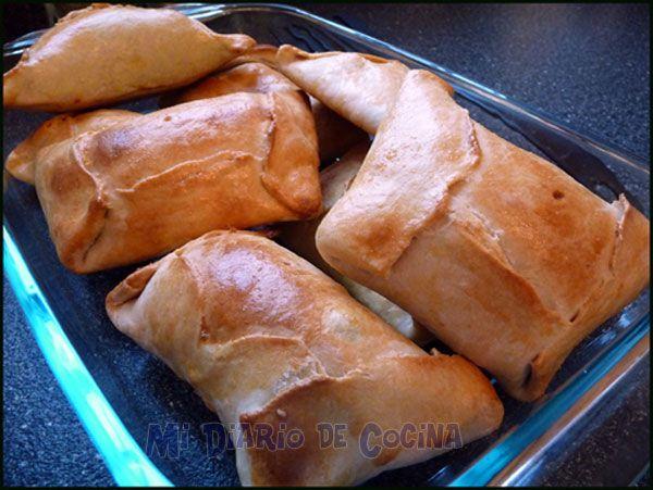 Empanadas de pino al horno