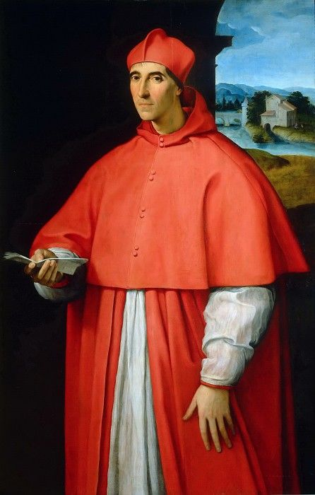 Портрет кардинала Алессандро Фарнезе. Рафаэль Санти