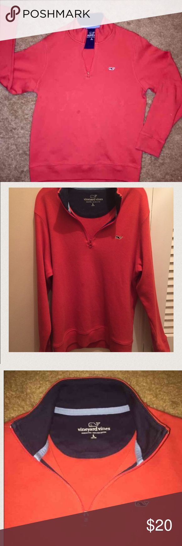 Vineyard Vines Boys Large pullover in GUC VIneyard Vines Boys Large 3/4 zip pullover in GUC However there is a small spot shown in last pic. Not really all that's noticeable , and may come out .. Smoke and pet free home.                              Tags/ VV, preppy, Polo,southern tide, Patagonia Vineyard Vines Shirts & Tops Sweaters