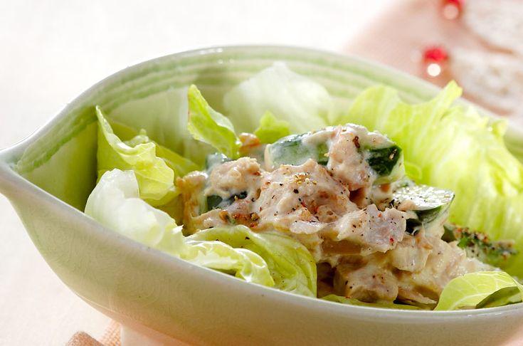 パンにはさんでサンドイッチにしてもいいですよ。ツナとキュウリのサラダ[洋食/サラダ]2007.03.12公開のレシピです。