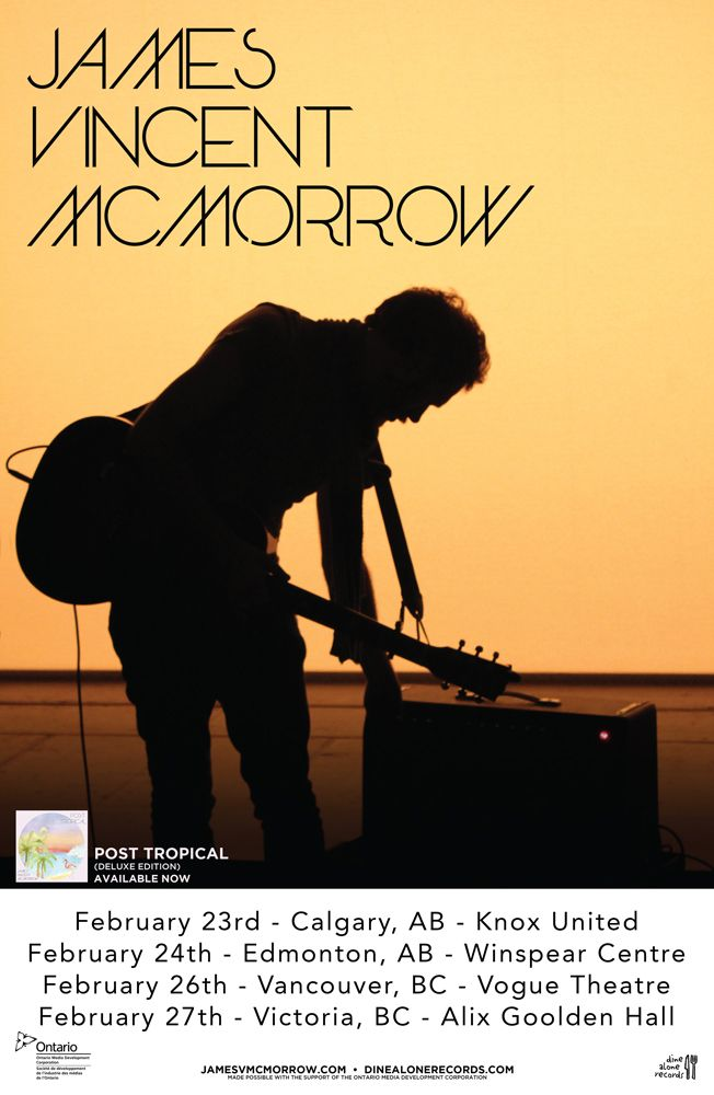 James Vincent McMorrow just released the deluxe edition of his 2014 masterpiece, Post Tropical. James heads back to Canada, with stop in Calgary, Edmonton, Vancouver and Victoria.