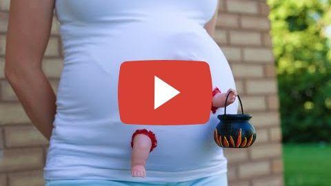 Zombie Baby Maternity Costume!