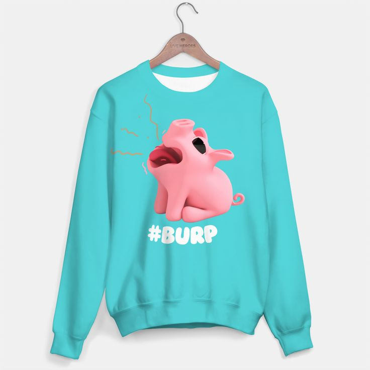Rosa the Pig Burp Blue Sweater, Live Heroes