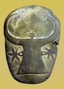 Egypte, culture de Nagada II: palette à fard, tombe 59 de Guizeh. Schiste. Musée du Caire. (Site Egypte antique)