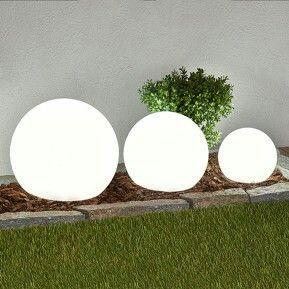 3-delige set LED-solarlampen Lago, bollen