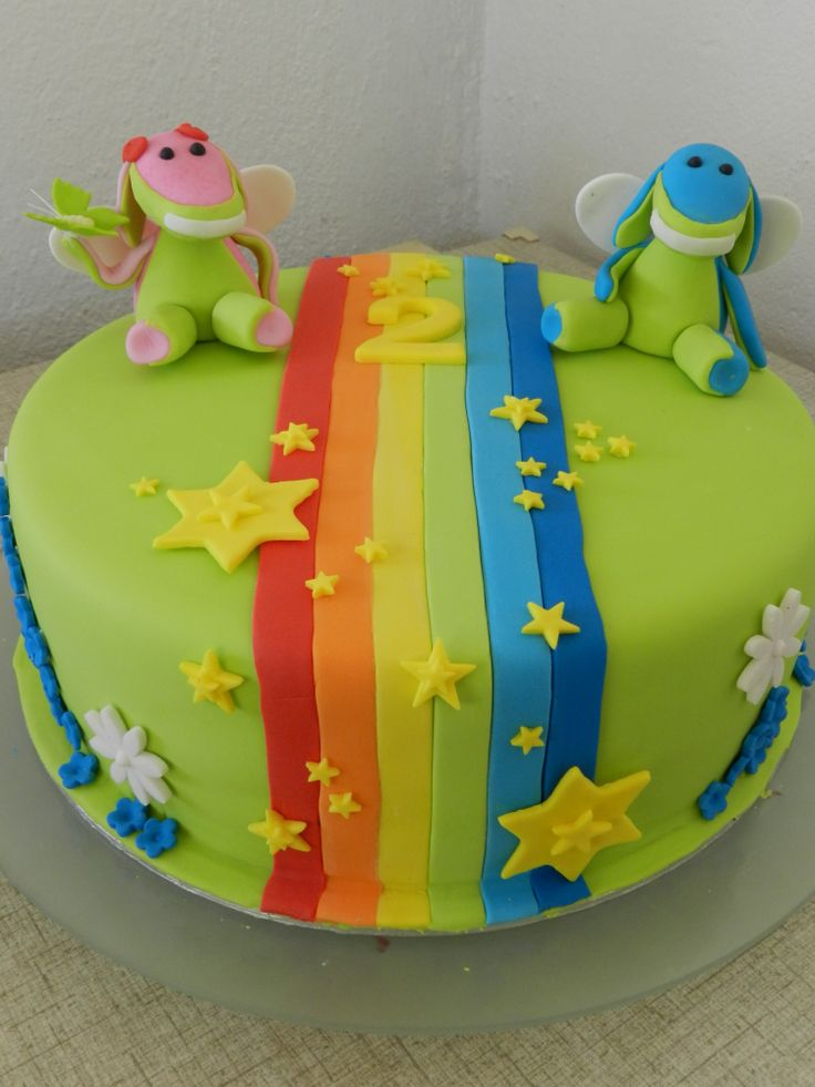 Lollos Amp Lettie Rainbow Cake My Creations Pinterest