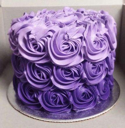 28 Trendy Birthday Cake Purple Rose Cupcake Cake