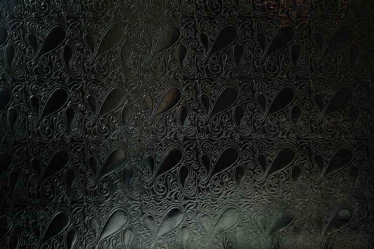 The black -colored stitch fabric by Eurokangas