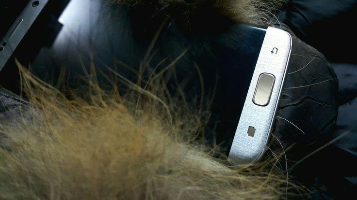 Folii Carbon 3M  Matt Silver Samsung S6 edge