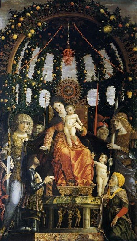 Andrea Mantegna (1431-1506), Madonna of Victory, 1496, Doek 285 x 168 - Het Louvre