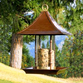 H. Potter Steel Tube Bird Feeder Gar459