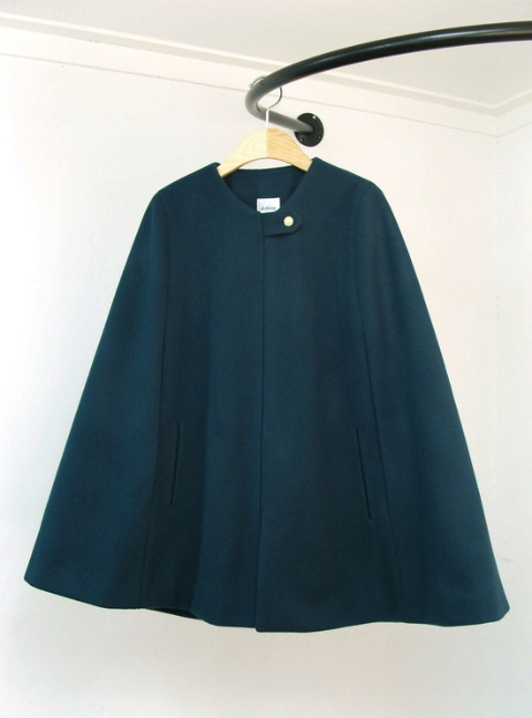 al,thing - Dark green simple cape