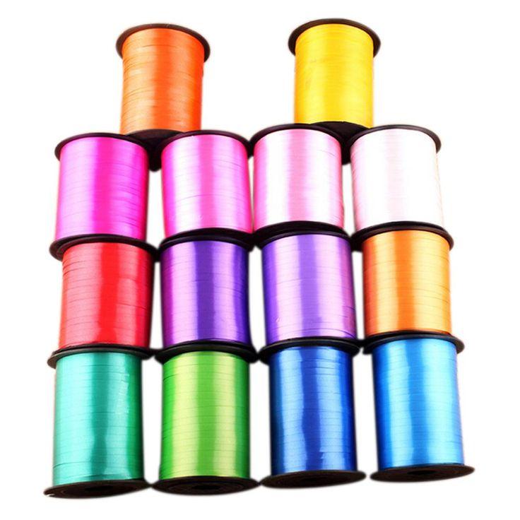 Heißer 250 yards ballon band rolle diy geschenke handwerk folie curling hochzeit geburtstag partydekoration kids liefert multi farbe 5mm
